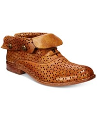 Patricia Nash Sabrina Perforated Ankle Booties Women's Shoes Tan