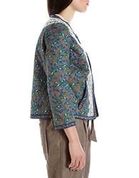 424 Fifth Quilted Paisley Jacket Dark Olive
