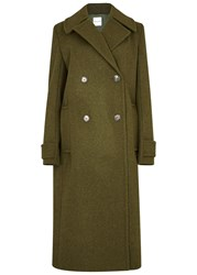 Each X Other Army Green Wool Coat Khaki