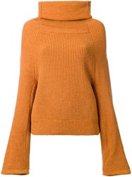 Toga Oversize Roll Neck Jumper Yellow And Orange