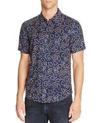 Native Youth Sundance Floral Short Sleeve Regular Fit Button Down Shirt Navy