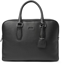 Hugo Boss Gardo Grained Leather Briefcase Black