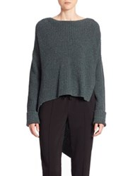 Brochu Walker Thandee Asymmetrical Hem Sweater Balsam Teal Melange