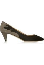 Isabel Marant Etoile Gumy Suede And Glitter Finished Leather Pumps