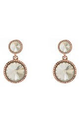 Ted Baker Women's London 'Ronda' Crystal Drop Earrings Rose Gold Silver Shadow