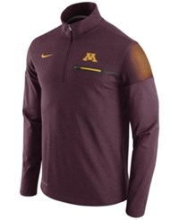 Nike Men's Minnesota Golden Gophers Elite Coaches Half Zip Pullover Maroon