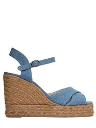 Castaner 110Mm Denim Wedge Sandals