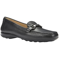 Geox Euro Leather Loafers Black Leather