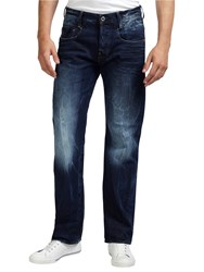 G Star Raw New Radar Comfort Dark Wash Straight Jeans Medium Aged