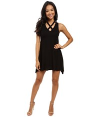 Culture Phit Marilla Sleeveless Swing Dress With Strap Detail Black Women's Dress