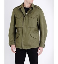 Burberry Utility Cotton Blend Jacket Military Green