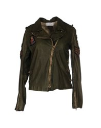 Le Cuir Perdu Coats And Jackets Jackets Women Military Green