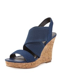 Charles By Charles David Luv Canvas Crisscross Wedge Sandal Lagoon