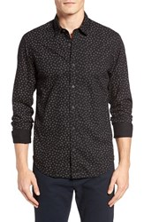 Scotch And Soda Men's Extra Slim Fit Ring Print Woven Shirt