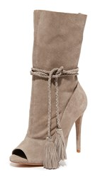 Schutz Jaime Open Toe Booties Mouse