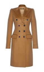 Dolce And Gabbana Double Breasted Coat Tan