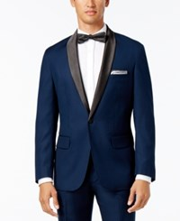 Inc International Concepts Men's Customizable Tuxedo Blazer Only At Macy's Navy Regular Shawl Lapel Blazer