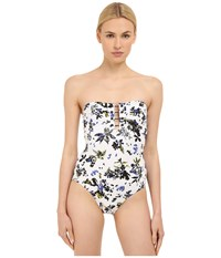 Proenza Schouler Bandeau Maillot One Piece White Women's Swimsuits One Piece
