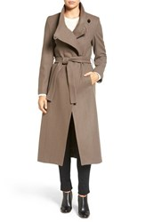 Kenneth Cole Women's New York Wool Blend Maxi Wrap Coat Coffee