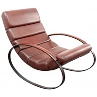Rocking Chair In Maroon Leatherette 1960S Design Market