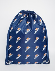 Ellesse Logo Drawstring Backpack Blue
