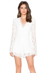 Endless Rose Lace Romper White