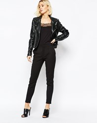 Selected Muse Cropped Pants In Black Black