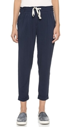 Splendid Woven Cuffed Casual Pants Navy