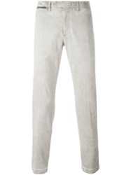 Eleventy Washed Effect Trousers Nude And Neutrals