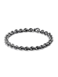 David Yurman Buck Twist Cable Bracelet Dark Silver