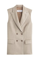 Max Mara Double Breasted Wool Vest Beige