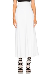 Alessandra Rich High Waisted Skirt In White
