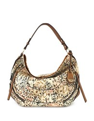 Jessica Simpson Kendall Hobo Bag Island Cheetah