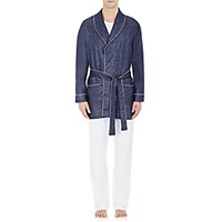 Zimmerli Men's Crop Robe Blue Navy Blue Navy