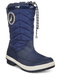 Nautica Becher Quilted Cold Weather Boots Women's Shoes Navy