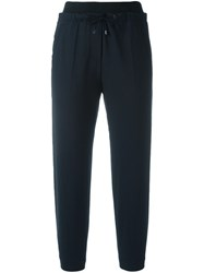 Brunello Cucinelli Drawstring Cropped Trousers Blue