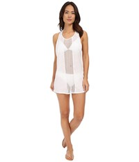 Vitamin A Swimwear Cancun Tee Cover Up Honeycomb Mesh White Women's Swimwear
