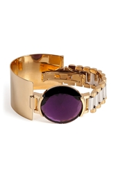 Delfina Delettrez Watch Bangle With Purple Quartz