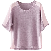 Poetry Linen Detail Jumper Lilac