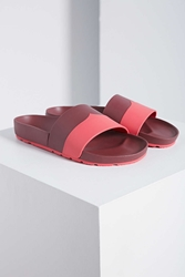 Hunter Contrast Mustache Slide Sandal Red