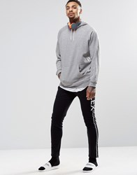 Asos Loungewear Skinny Joggers With Double Waistband And Flex Print Black