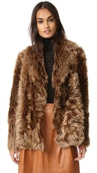 Yves Salomon Reversible Short Shearling Jacket Brown
