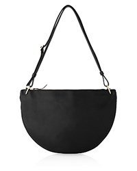 Whistles Montrose Half Moon Shoulder Bag Black