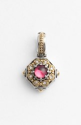 Women's Konstantino 'Hermione' Stone And Diamond Pendant Silver Pink
