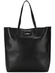 Hogan Logo Plaque Tote Black