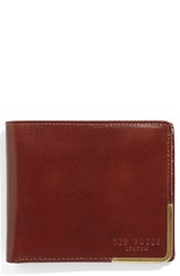 Ted Baker Men's London Breeze Leather Bifold Wallet Brown Tan