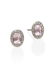 Swarovski Christie Crystal Button Earrings Pink