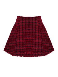 Almost Famous Tweed Flare Skirt Red