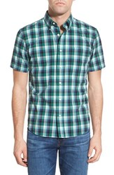 Men's Jack Spade 'Caulfield' Trim Fit Gingham Sport Shirt Green