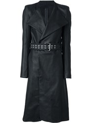 Gareth Pugh Belted Trench Coat Black